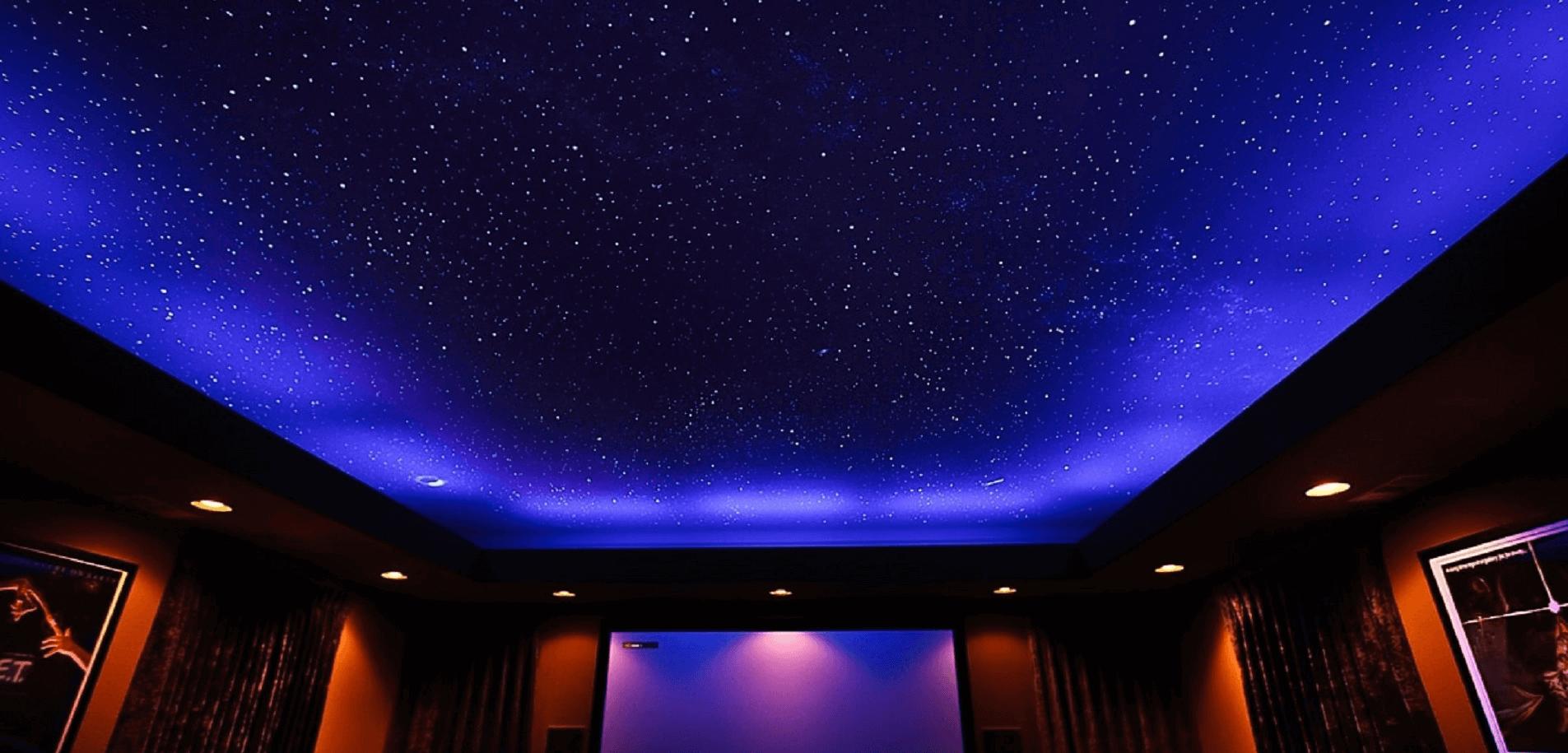 """Особенности натяжного потолка """"Звездное небо"""""""