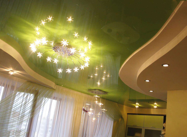 Установка светильников на натяжные потолки